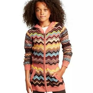 Missoni for Target Girls Hooded Zip Up Sweater